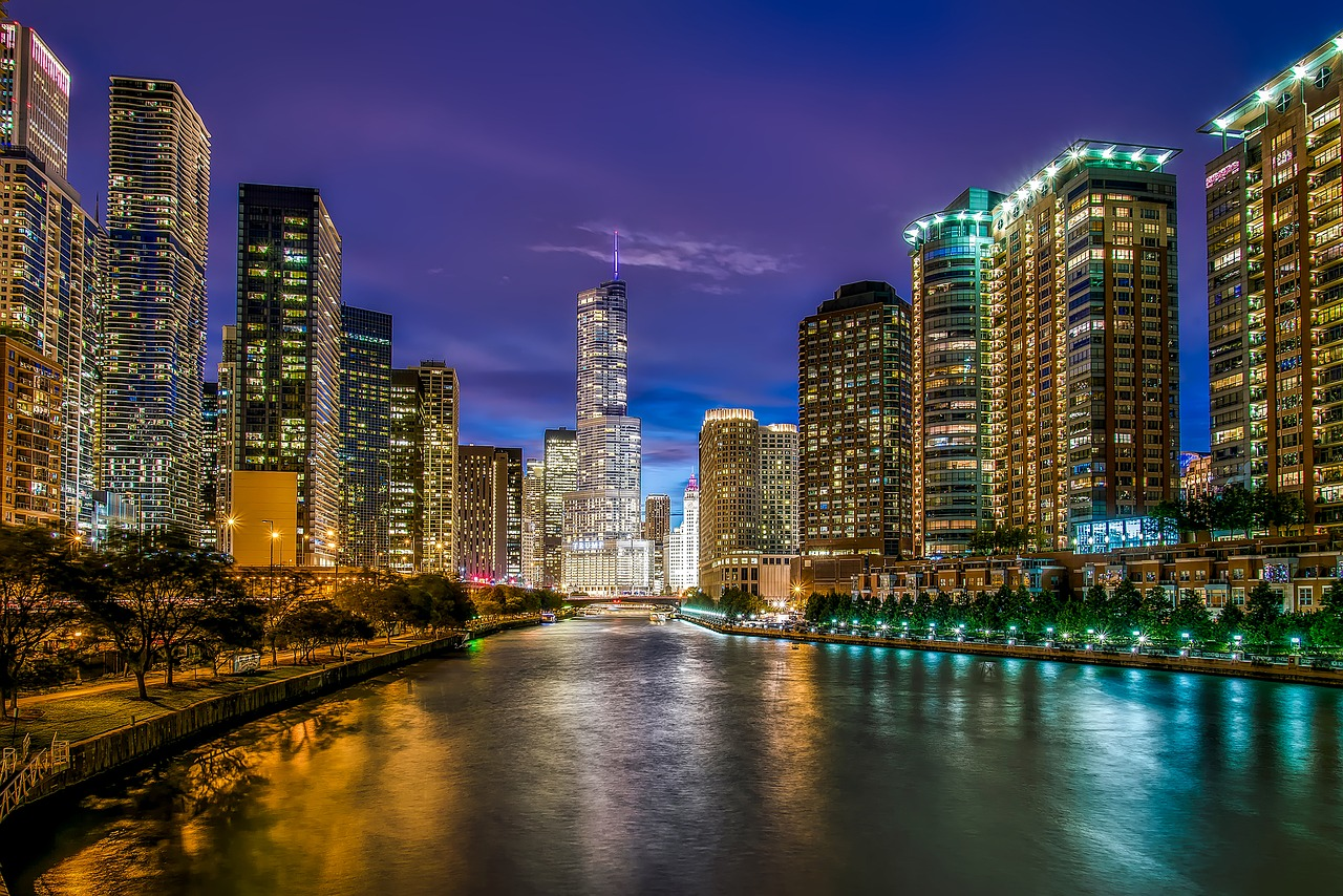 chicago-downtown-night